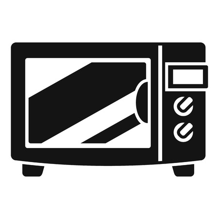 Steel microwave icon. Simple illustration of steel microwave vector icon for web design isolated on white background Ilustração