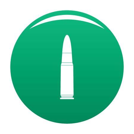 Shot cartridge icon vector green Illustration