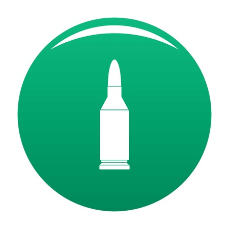 Bullet icon vector green
