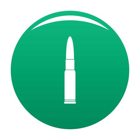 Weapon cartridge icon vector green