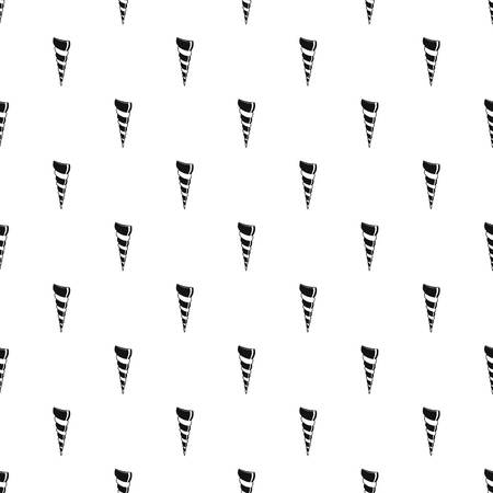 Long shell pattern seamless vector Banque d'images - 111911746