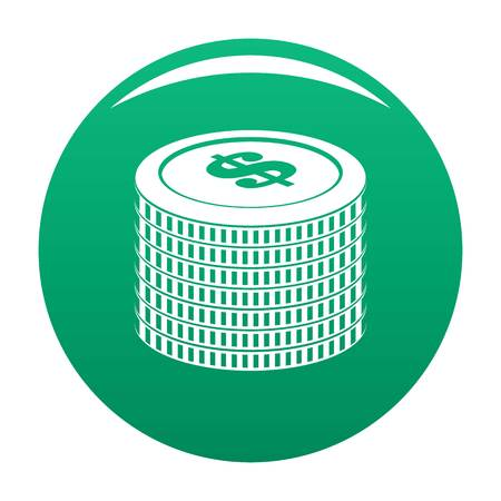 Investment coin icon. Simple illustration of investment coin vector icon for any design green