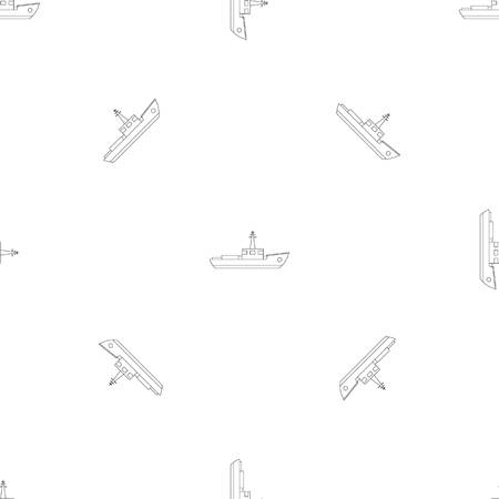Small ship pattern seamless vector