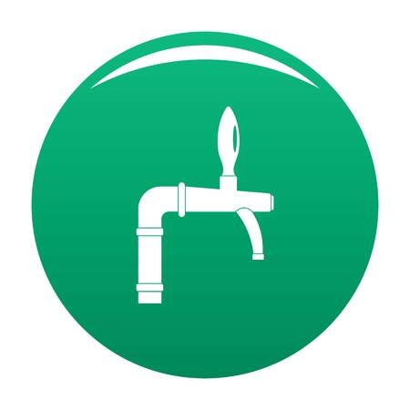 Tap with handle icon vector green