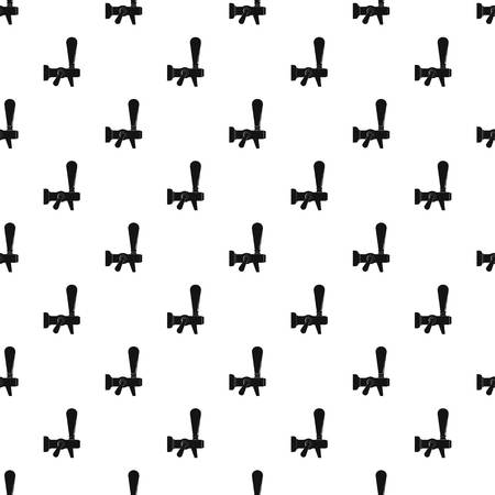 Steel faucet pattern seamless vector Çizim