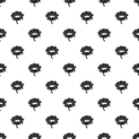 Blossoming sunflower pattern seamless vector
