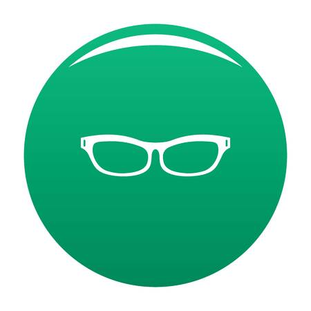 Care eyeglasses icon vector green  イラスト・ベクター素材