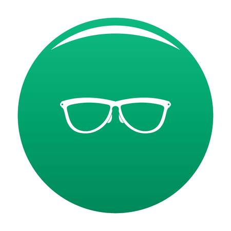Stylish eyeglasses icon vector green