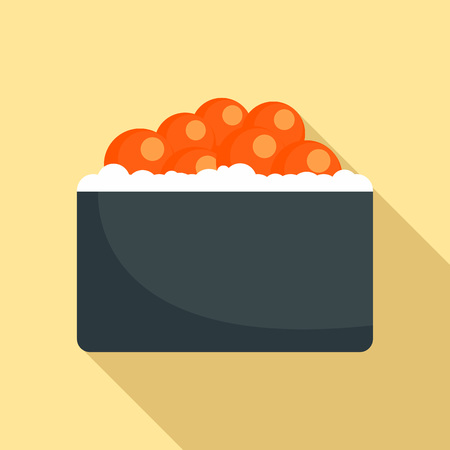 Hotate tai sushi icon. Flat illustration of hotate tai sushi vector icon for web design Illusztráció