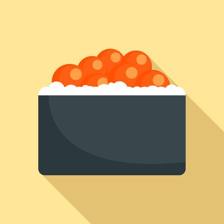 Hotate tai sushi icon. Flat illustration of hotate tai sushi vector icon for web design Illustration