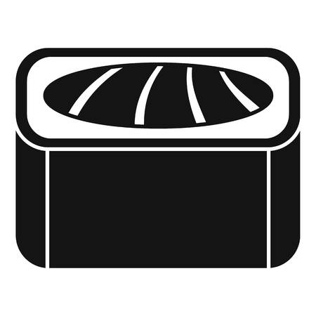 Maguro sushi roll icon, simple style