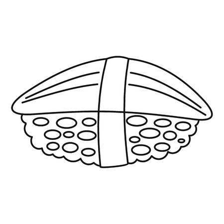 Hotate sushi icon. Outline hotate sushi vector icon for web design isolated on white background Illustration