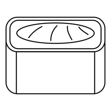 Maguro sushi roll icon. Outline maguro sushi roll vector icon for web design isolated on white background