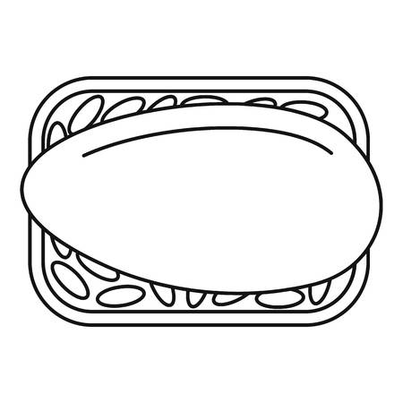 Japan sushi icon. Outline japan sushi vector icon for web design isolated on white background