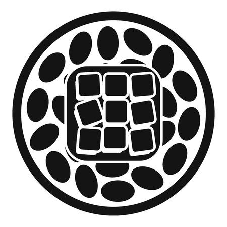 Rice sushi icon. Simple illustration of rice sushi vector icon for web design isolated on white background Illustration