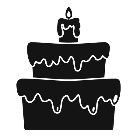 Small cake icon. Simple illustration of small cake vector icon for web design isolated on white background