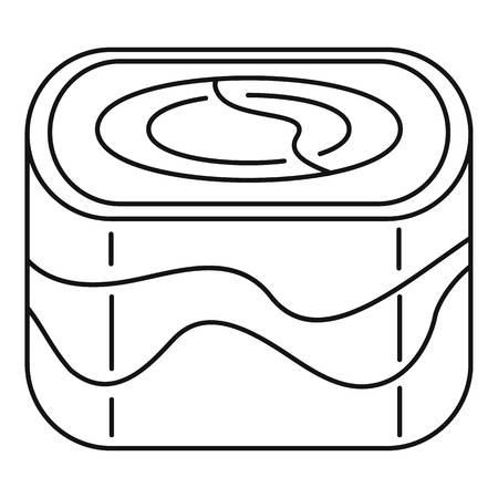 Ebi sushi icon, outline style Illustration