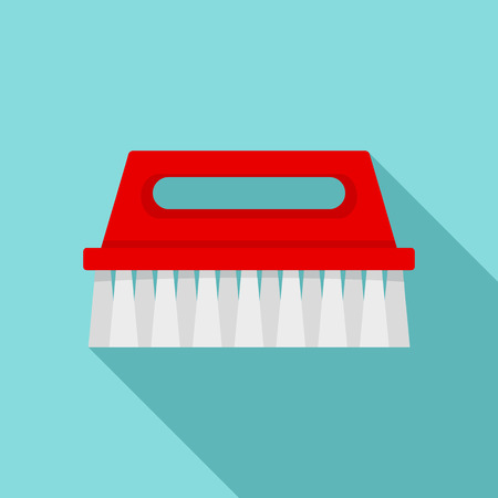 Wash brush icon. Flat illustration of wash brush vector icon for web design