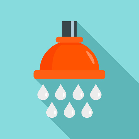 Water drop wash icon. Flat illustration of water drop wash vector icon for web design