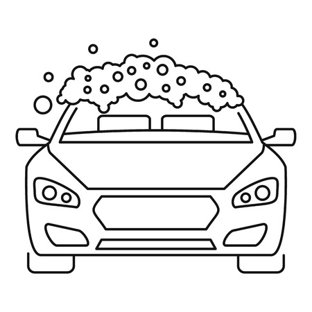 Foam wash car icon, outline style  イラスト・ベクター素材