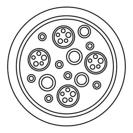 Pizza mozzarella icon, outline style