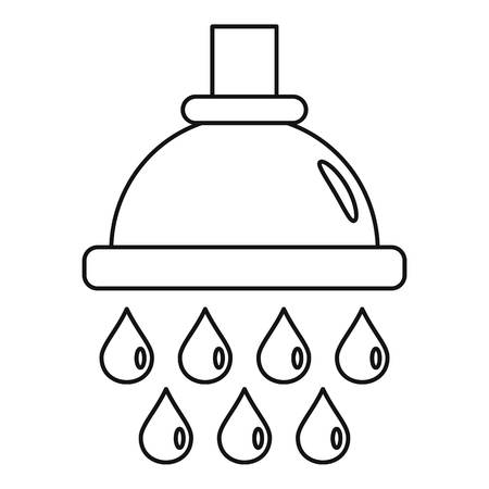 Water drop wash icon. Outline water drop wash vector icon for web design isolated on white background