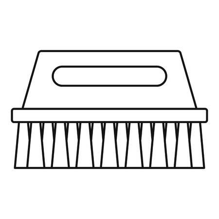 Wash brush icon. Outline wash brush vector icon for web design isolated on white background