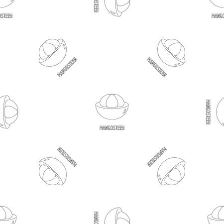 Mangosteen pattern seamless vector repeat geometric for any web design Illustration