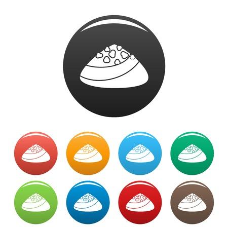 Choco bonbon icons set color