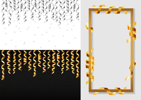 Serpentine coil banner set. Realistic illustration of serpentine coil vector banner set for web design Illustration
