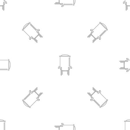 Barrel pattern seamless vector repeat geometric for any web design Ilustrace