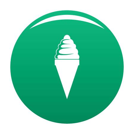 Ice cream icon. Simple illustration of ice cream vector icon for any design green