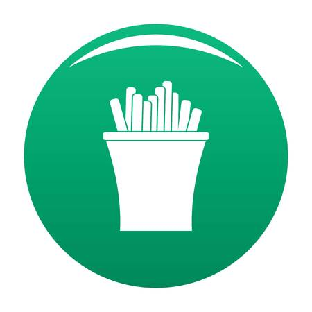 French fries icon. Simple illustration of french fries vector icon for any design green