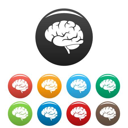 Brain power icon. Simple illustration of brain power vector icon for web design isolated on white background Ilustrace