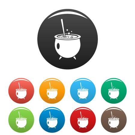 Magic cauldron icon. Simple illustration of magic cauldron vector icon for web design isolated on white background Ilustracja