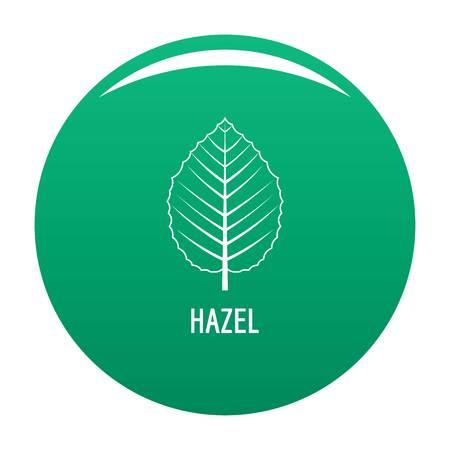 Hazel leaf icon. Simple illustration of hazel leaf vector icon for any design green 일러스트