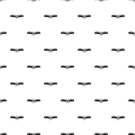 Head collision pattern seamless vector