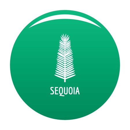 Sequoia leaf icon vector green