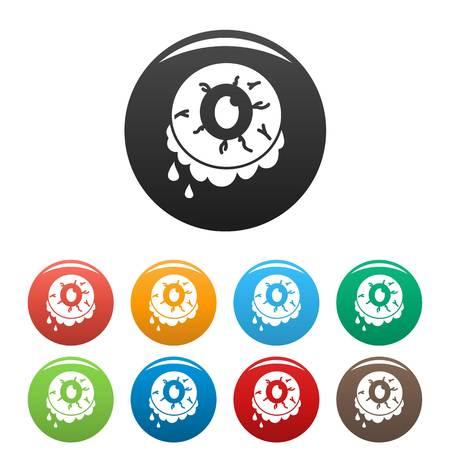 Halloween zombie eye icon. Simple illustration of halloween zombie eye vector icon for web design isolated on white background Illustration