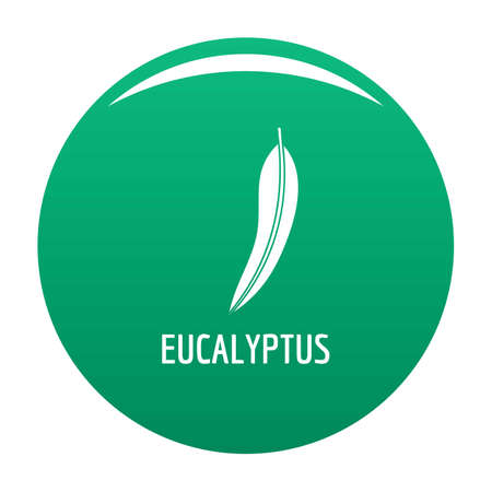 Eucalyptus leaf icon. Simple illustration of eucalyptus leaf vector icon for any design green