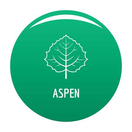 Aspen leaf icon. Simple illustration of aspen leaf vector icon for any design green