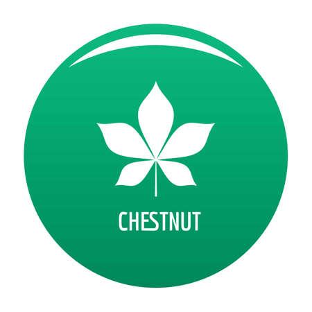 Chestnut leaf icon. Simple illustration of chestnut leaf vector icon for any design green Illusztráció