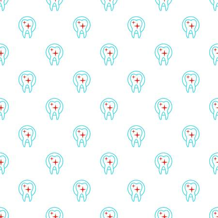 Uneven tooth pattern seamless vector