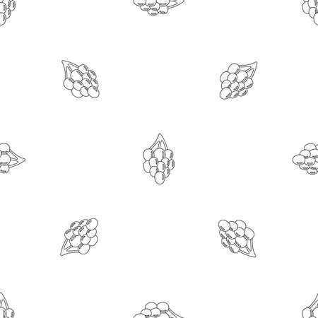 Southerly grape pattern seamless vector Иллюстрация