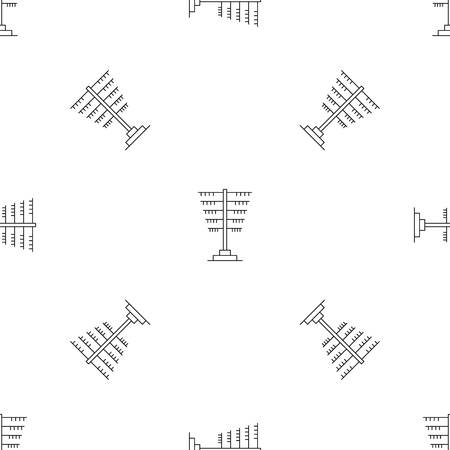 Connection pole pattern seamless vector repeat geometric for any web design