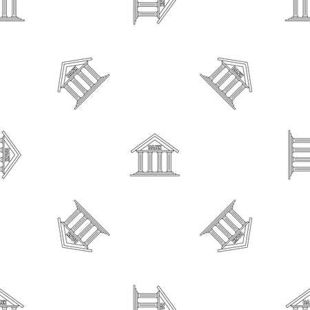 Bank pattern seamless vector
