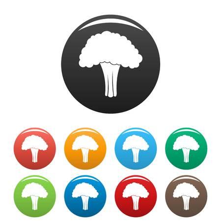 Salad broccoli icon, simple style Stock Illustratie