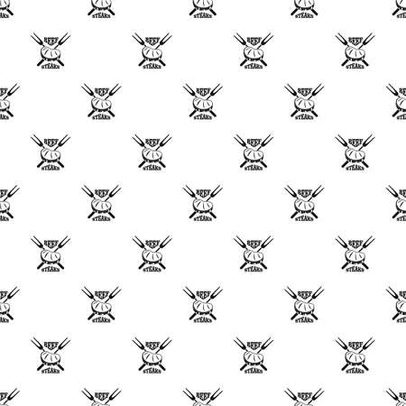 Beef steaks pattern seamless vector Vettoriali