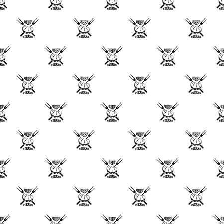 Beef steaks pattern seamless vector 일러스트