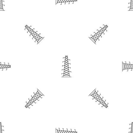 Power station pattern seamless vector repeat geometric for any web design